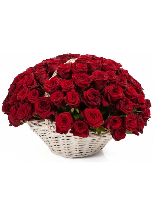 Купить корзину из 101 розы с доставкой
