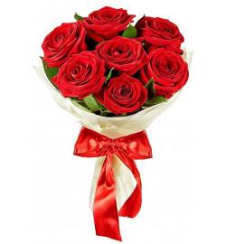 Букет из 7 крупных  роз